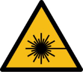 Warnzeichen vor Laserstrahl